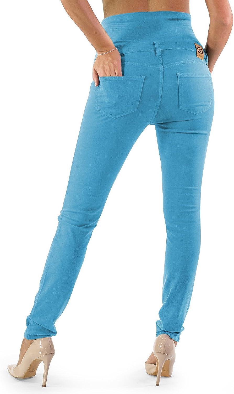 Bequem Und Modisch Jeans f/ür Schwangerschaft Made in Italy Skinny Fit Umstandsjeans Grundlegende Jeggings Einfach Und Super Elastisch MAMAJEANS Milano