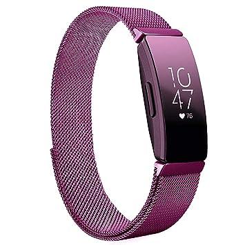 ProCase Correa Acero Inoxidable para Fitbit Inspire/Inspire HR, Pulsera Malla Metálica Ajustable para Mujeres y Hombres, Banda Tejida de Aleación para ...