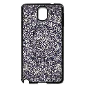 Diy Mandala Flower Phone Case for samsung galaxy note 3 Black Shell Phone JFLIFE(TM) [Pattern-2]