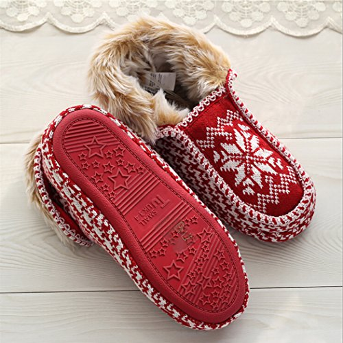Christmas Cotton Warm Women for Snowflake Printed S Slippers Slippers Zoylink Slippers Winter 5AtwqvxA0