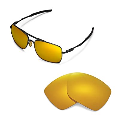 5f3f6ec0c3c Walleva Replacement Lenses for Oakley Deviation Sunglasses - 11 Options  Available (24K Gold Mirror Coated