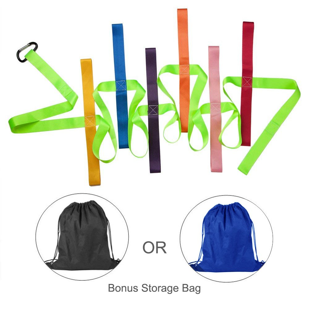 Safety Walking Rope,DOCA Colorful Toddler Walking Rope with Buckle for Preschool Daycare School Kids - 12 Loops【Fluorescent Green】