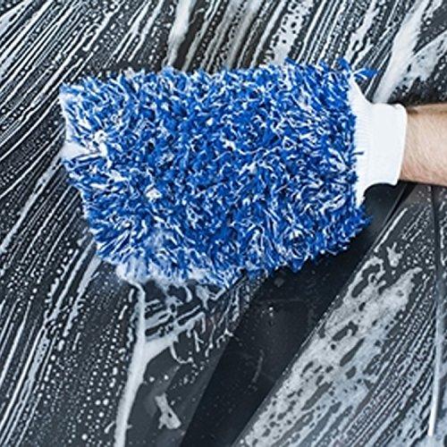 Mitt de lavado de coches de microfibra / Mitt de detalles: Amazon.es: Coche y moto