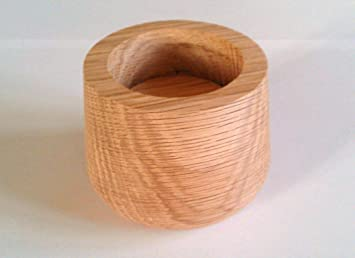 Raiser Wood Castor Cups In Oak For Furniture, 1 1/2 Inches Extra Height