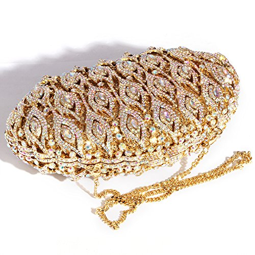 Crystal Clutch Bags women Big Rhinestone Gold Wings Evening Digabi Purses wx60H4qXWU