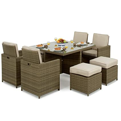 Maze Rattan Cube 4 - 8 asientos Toskana - Juego de muebles ...