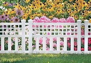 Suncast gvf24Grand View valla, color blanco: blanco al aire libre, hogar, jardín, suministro, Mantenimiento