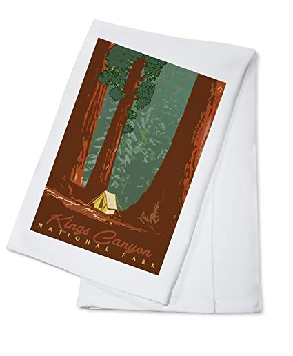 Amazon.com Kings Canyon National Park California - Redwood Forest View - Sequoias and Tent (100% Cotton Kitchen Towel) Kitchen u0026 Dining  sc 1 st  Amazon.com & Amazon.com: Kings Canyon National Park California - Redwood Forest ...