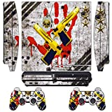 Skin Sticker for PS3 PlayStation 3 DualShock 3 Decals Custom Mod Cover Cases Decal Modding Game Sixaxis Vinyl Skins for Sony Play Station 3 Slim Console 2 Remote Controllers – Ghost ops