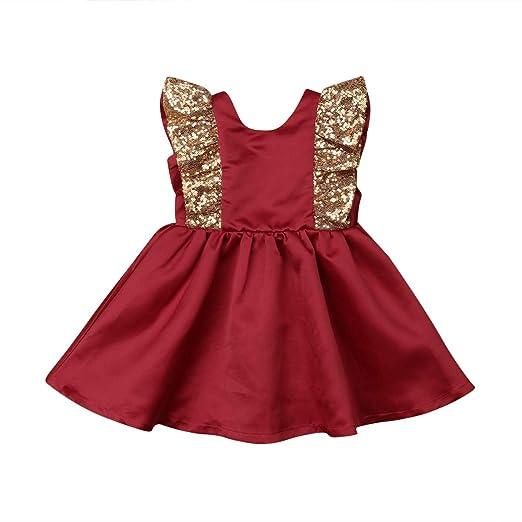 af3c86c70 Toddler Baby Girl Dress Gold Ruffles Party Dress Princess Dress Big Bow  Flower Girl Dress Clothes
