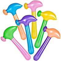 ArtCreativity Neon Hammer Inflates, Set of 12, Fun Multicolored Inflatable Toys for Kids, Colorful Construction Birthday…