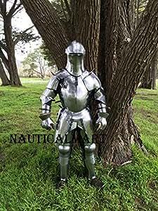 NauticalMart Renaissance Armor Wearable Medieval Suit of Armor - LARP, reenactment costume