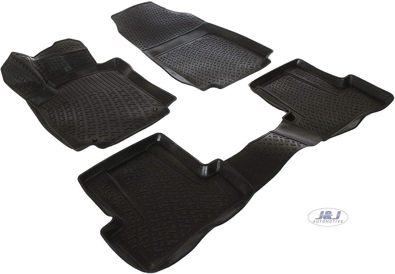 Noir Tapis DE Sol en Caoutchouc Compatible avec Dacia DOKKER 2013-pr/és J/&J AUTOMOTIVE