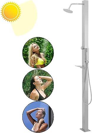 LBBGM Duchas Ducha Solar, Ducha de jardín Solar Recta de Acero Inoxidable con botón para jardín Exterior Junto a la Piscina para Exterior, jardín: Amazon.es: Hogar