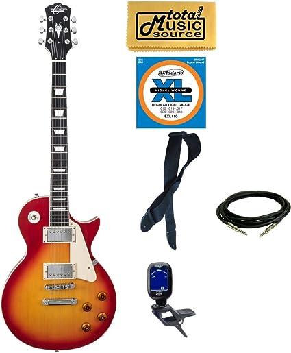 Amazon.com: Oscar Schmidt OE20CS LP Style - Guitarra ...