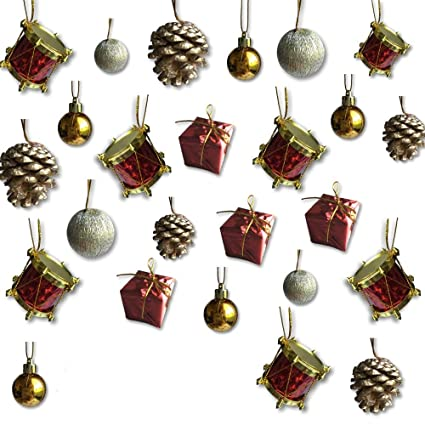 BANBERRY DESIGNS Mini Christmas Ornaments - Assorted Set of 80 Ornaments -  Gold Mini Ball Ornaments - Amazon.com: BANBERRY DESIGNS Mini Christmas Ornaments - Assorted Set