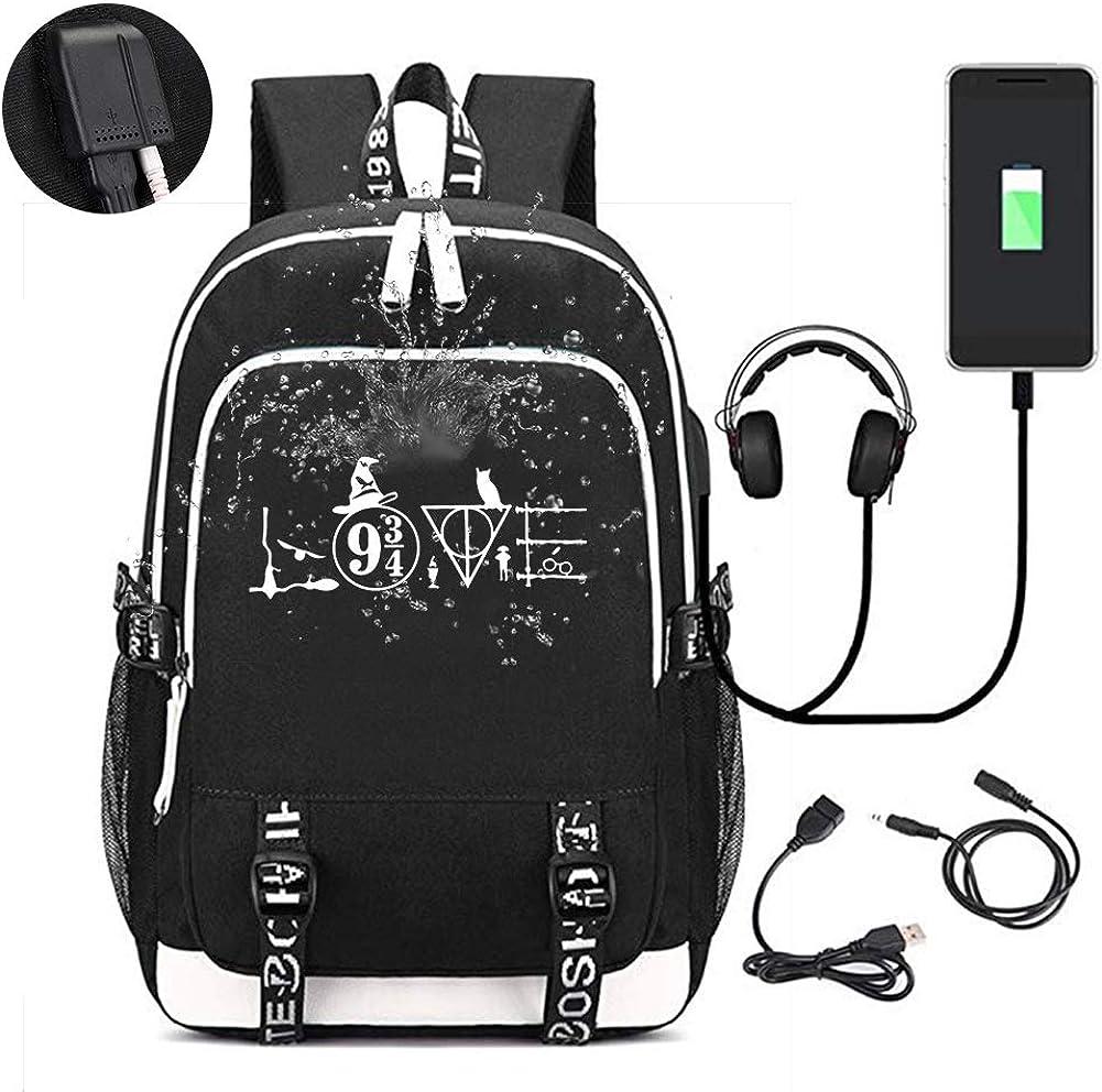 Love Quote Backpack Travel Bag-Business Laptop Backpack with USB Charging Port,Elegant Casual Daypacks Outdoor Sports Shoulders Bag for Men Women,Water Resistant Resistant Travelling Backpack,Black