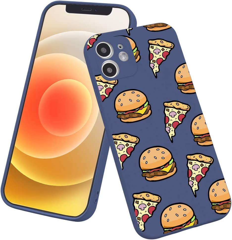 LuGeKe Pizza Phone Case for iPhone6 Plus/iPhone6s Plus,Cute Hamburger Patterned Case Cover,TPU Cover Flexible Ultra Slim Anti-Stratch Bumper Protective Cartoon Fruit Phonecase(Pizza)