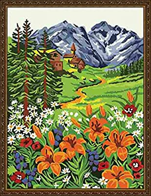 Pack of 20 [WOODEN FRAMED] Diy Oil Painting, paint By Number- Mountain 16*20 inch
