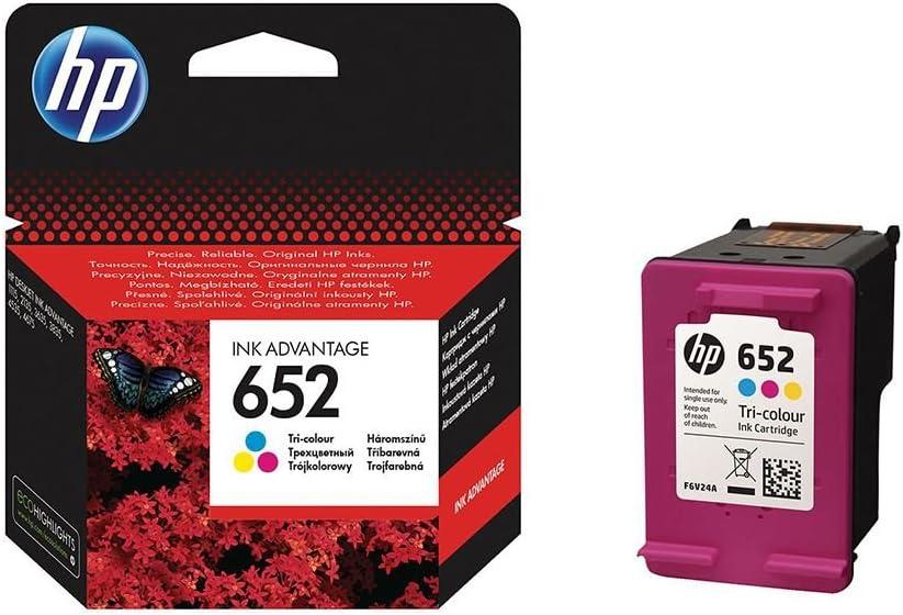 HP 652 cartucho de tinta Original Negro, Cian, Amarillo - Cartucho ...