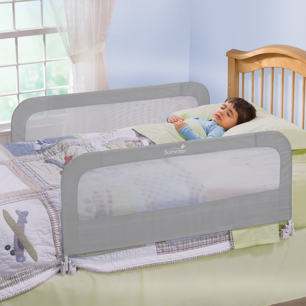 Summer Infant Double Safety Bedrail Grey Ebay
