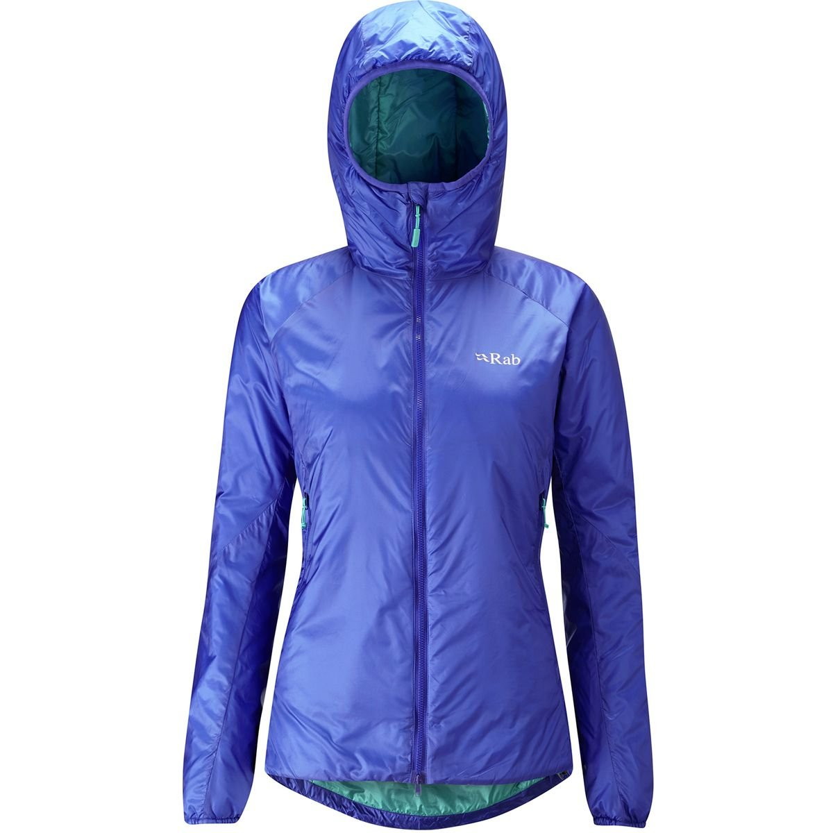 Rab Xenon X Insulated Hooded Jacket - Women's Electric/Seaglass, XL by RAB
