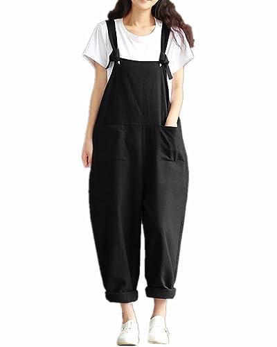StyleDome Damen Lässig Insgesamt Baggy Taschen Lange Harem Playsuit Hose Jumpsuits Overalls