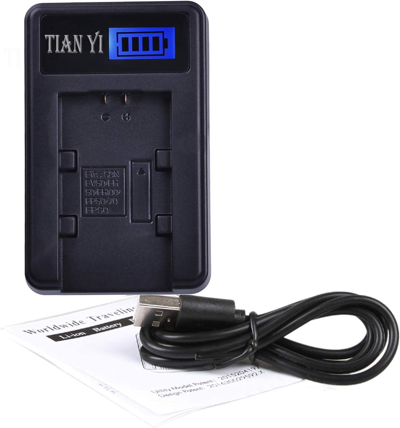 DCR-SR210E DCR-SR220D Handycam Camcorder DCR-SR220 DCR-SR220E USB LCD Display Battery Charger for Sony DCR-SR210