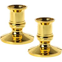 yanhonin 2pcs plástico chapado en oro vela Base