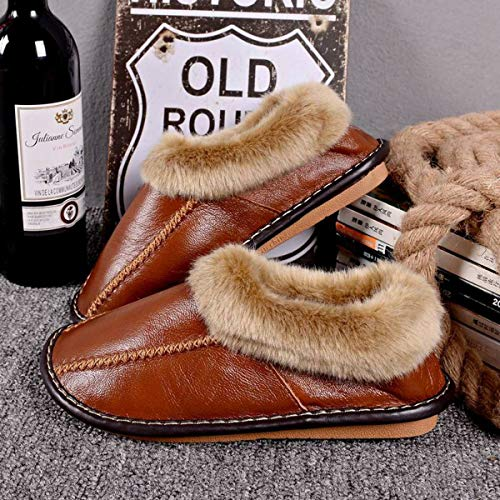 42 Pantofole Casa Confezione Spessa Per 40 Suola Da Pelle Adatto Calde Mezza Mezze Cotone 43 Con Lianaio Invernale 41 In qdFwxUXvn