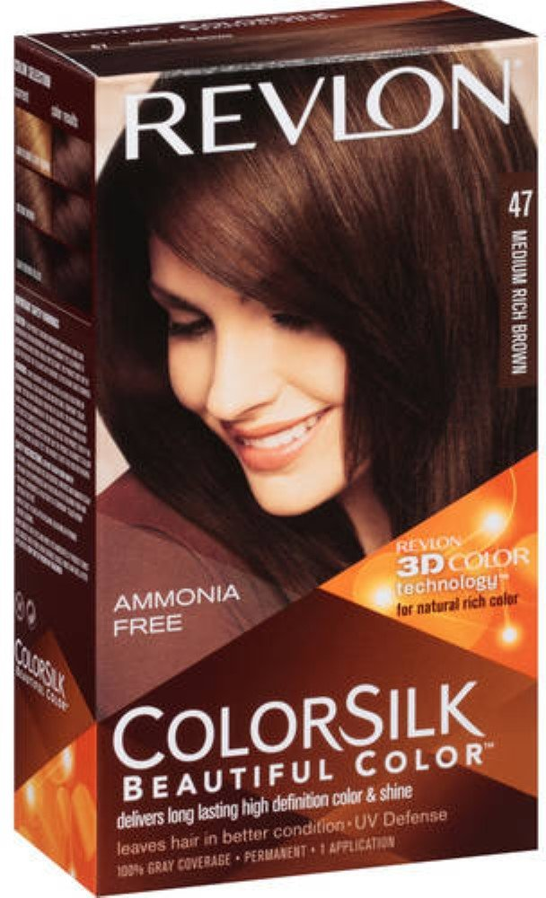 Amazon Revlon Colorsilk Hair Color 47 Medium Rich Brown 1