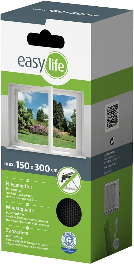 white Fly Screen for Window in Various Sizes and Colours 110x130cm