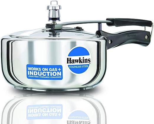 طنجرة ضغط هوكينز ستانلس ستيل سعة 3 لتر، فضي – B60