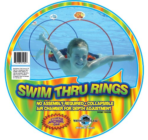 Water Sports Swim Thru Rings, 3 Pack -