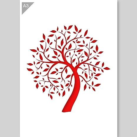 Plantilla de árbol - Plantilla de cartón - A3 42 x 29,7 cm -
