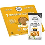 Cali'flour Pizza Crusts & Penne Pasta Bundles - 1 Box of Original Italian Crusts (2 Crusts Total) & 1 Bag of NEW Cali'flour Penne: Cauliflower & Yellow Lentil High-Protein Pasta (Grain Free)