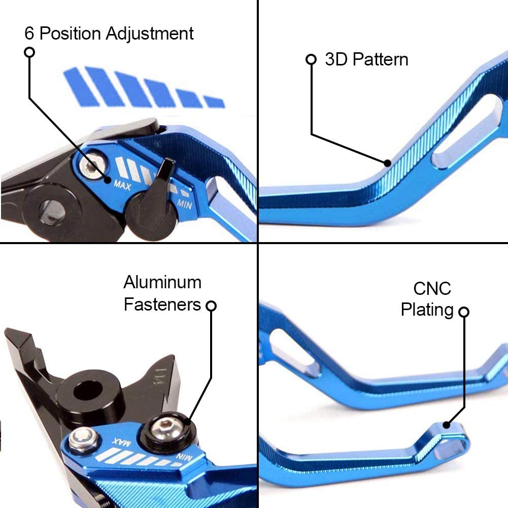 YZF R6 2017-2019 Auzkong Short Brake Clutch Levers for Yamaha YZF R1//R1M//R1S 2015-2019