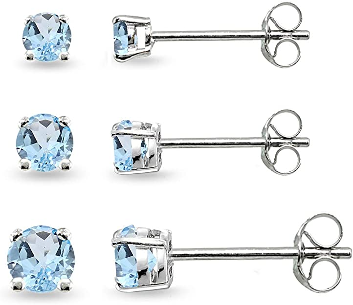 Best Christmas Gift Tigereye Gemstones /& Zirconia Labradorite Beautiful 925 Sterling Silver Earring pair Prong studded Carved Moonstone