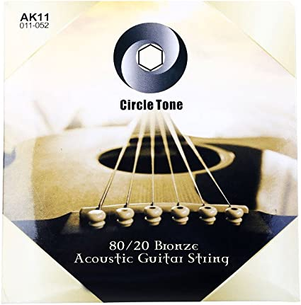 Rayzm Cuerdas para Guitarra Acústica, 80/20 Cuerdas de Bronce para ...