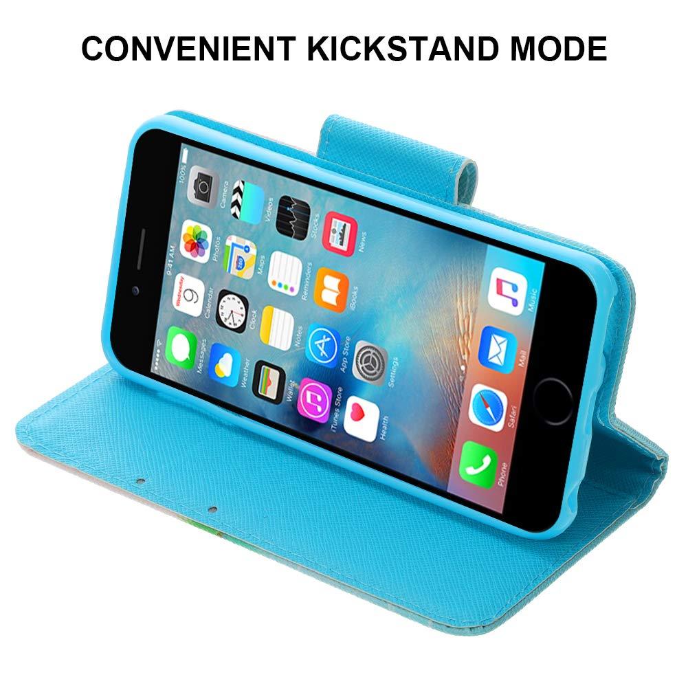 funci/ón Atril a Prueba de Golpes 6//7 con Tarjetero Funda Tipo Cartera para iPod Touch 5 miuse Funda Tipo Cartera para iPod Touch de 7/ª generaci/ón