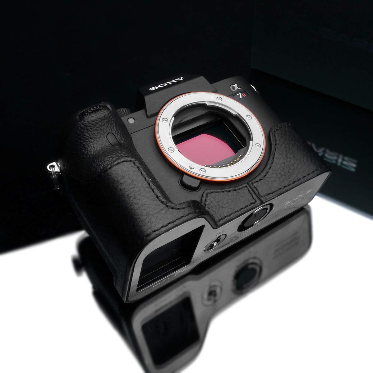 Gariz XS-CHA7RM4BK Genuine Leather Half Case for Sony A7R IV A7RIV (Black Leather) by Gariz
