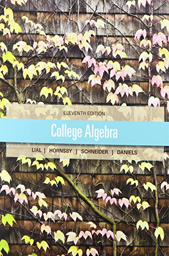 College Algebra, MyMathLab, and Student Solutions Manual
