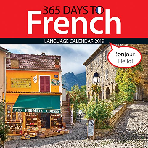 365 Days to French 2019 Wall Calendar by Zebra Publishing