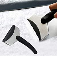 Eva Shop® Premium ijskrabber voor in de auto, met koudebestendige kunststof handgreep, elegante ijskrabber met…