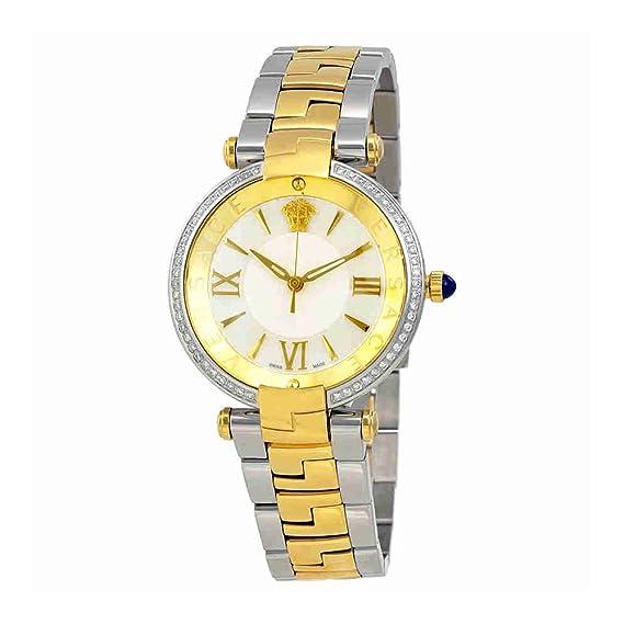 Versace Revive plata Dial Bicolor Damas Reloj vai130016: Amazon.es: Relojes