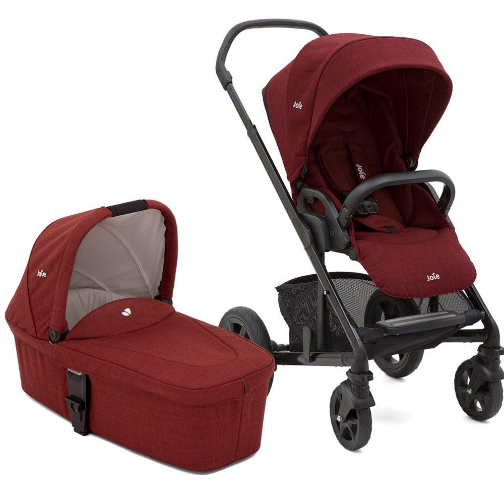 Babywanne 2018 Farbe:Dots Joie Chrome DLX Kinderwagen Set inkl