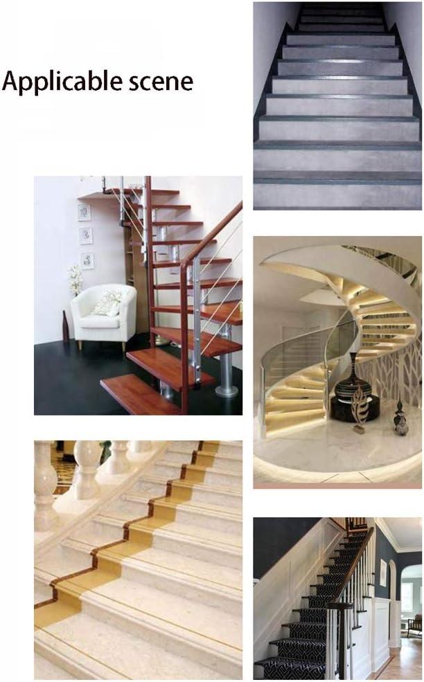 MELAG Profil de Nez Marche descalier Profil dangle descalier en Escalier Escalier dangle en Caoutchouc Anti-d/érapant en PVC Bande Anti-Glisse Bande dobturation de Bord Anti-Chute