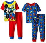 DC Comics Boys Comic-Squad 4-Piece Pajama Set