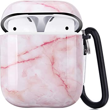 Amazon Com Airpods Case Litodream Cute Marble Pink Airpod Case