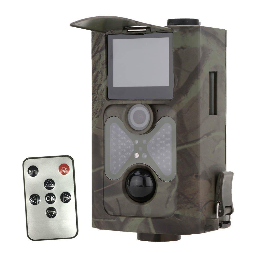 Lixada 120° Wide Lens Portable Wildlife Hunting Camera 12MP HD Digital Infrared Scouting Trail Camera 940NM IR LED Night Vision 1080P Video Recorder by Lixada